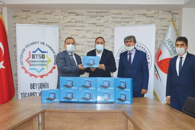 Beyşehir Ticaret ve Sanayi Odası'ndan uzaktan eğitime tablet desteği