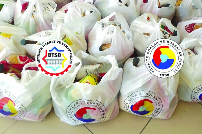 Beyşehir Ticaret ve Sanayi Odası'ndan Ramazan Yardımı