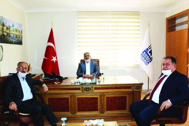 Başkan ve Kaymakam'dan Koski Genel Müdürüne Ziyaret