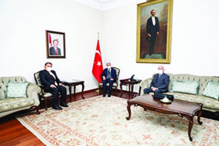 Kaymakam Vali ile görüştü. Beyşehir'in tarihi değerleri ele alındı.