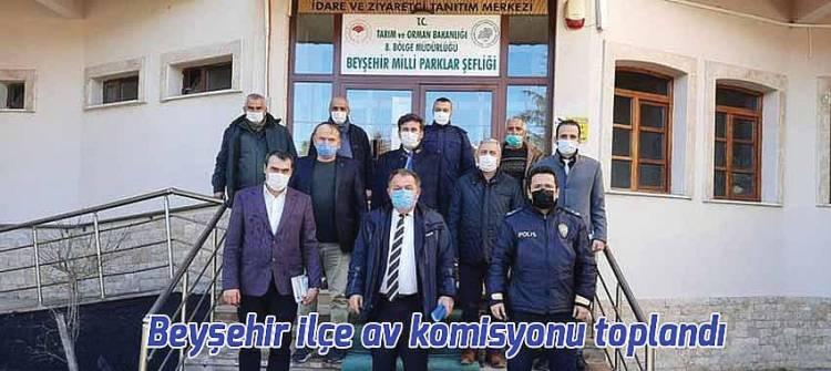 Beyşehir ilçe av komisyonu toplandı